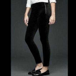 GAP 1969 Legging Black Velvet Skinny Pants 27R